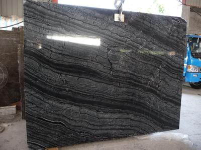 Asian Cheap Price and High Quality Black Serpeggiante Marble Slabs Supplier