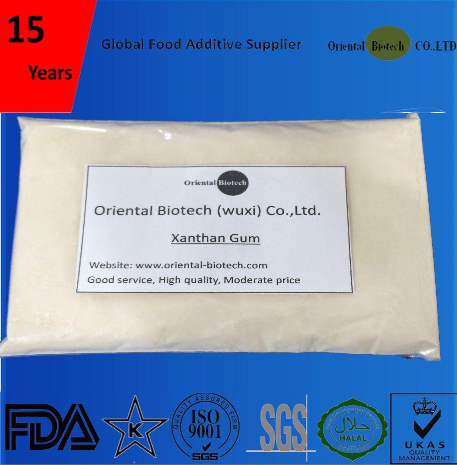 Food Grade Additives-Thickness Xanthan Gum 60 Mesh/80 Mesh/200 Mesh