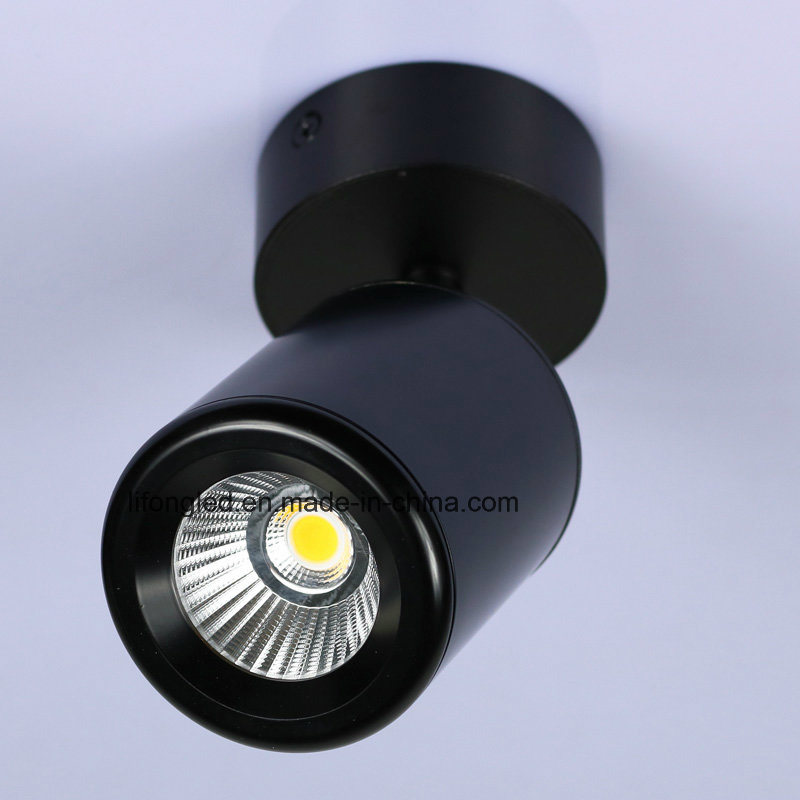 5W 7W 9W Aluminum Adjustable and 360&Deg. Rotated LED Wall Light, Black Finish