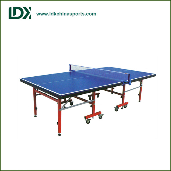 Indoor Sports Equipment Single Folding MDF Table Tennis Table