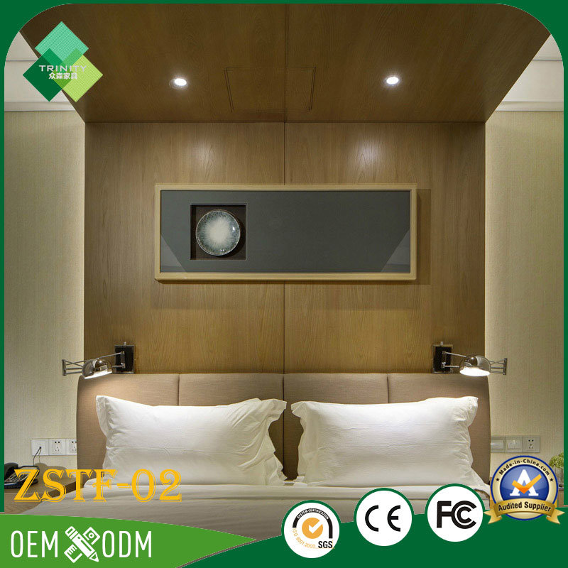 India Modern Style Solid Wood Bedroom Furniture Bedroom Set (ZSTF-02)