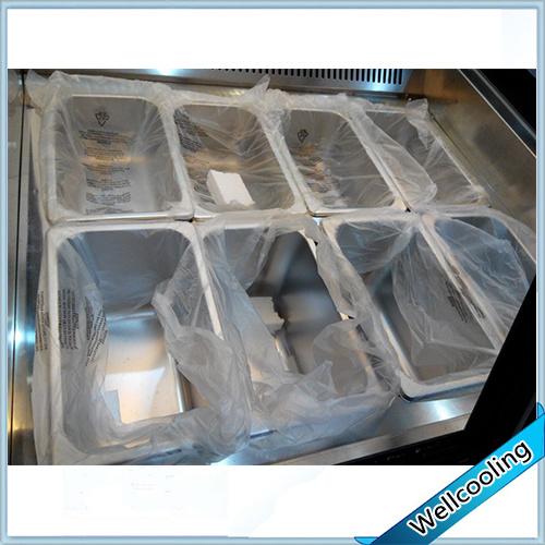 Embraco Compressor Good Quality Ice Cream Display Freezer