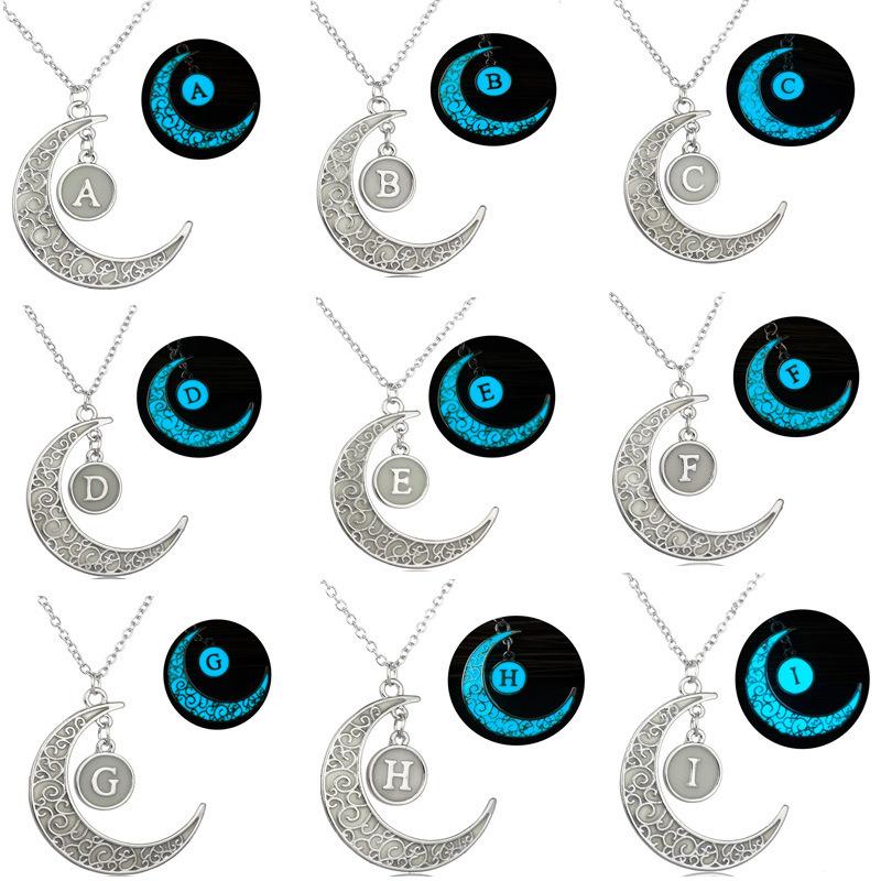 DIY Glowing Jewelry Gift Magice Moon Pendant Necklace Glow in The Dark