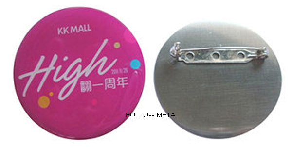 Offset Printing Aluminum Lapel Pin with Epoxy