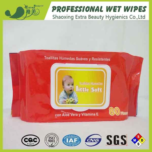 Biodegradable Alcohol Free Baby Wipes Non Allergenic Wet Tissue