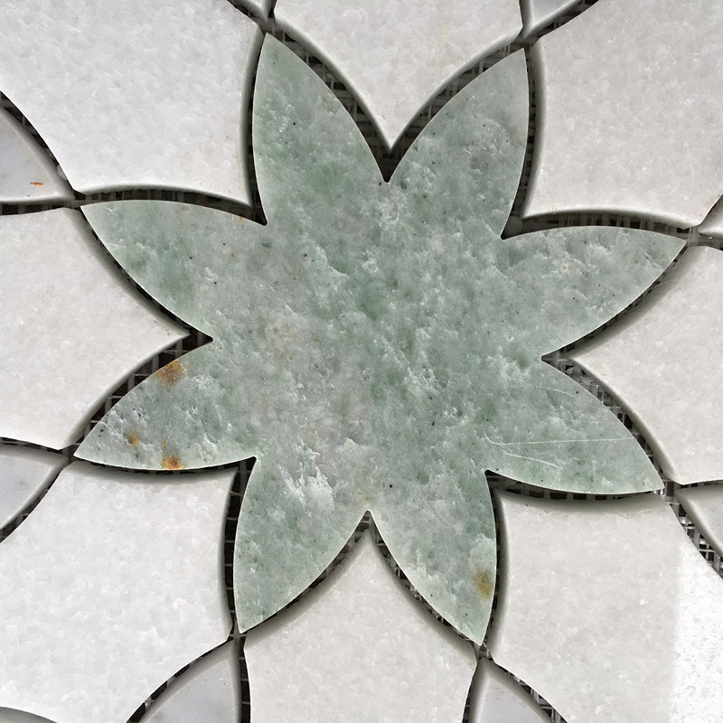 Marble Water Jet Medallion Natural Stone Mosaic Pattern