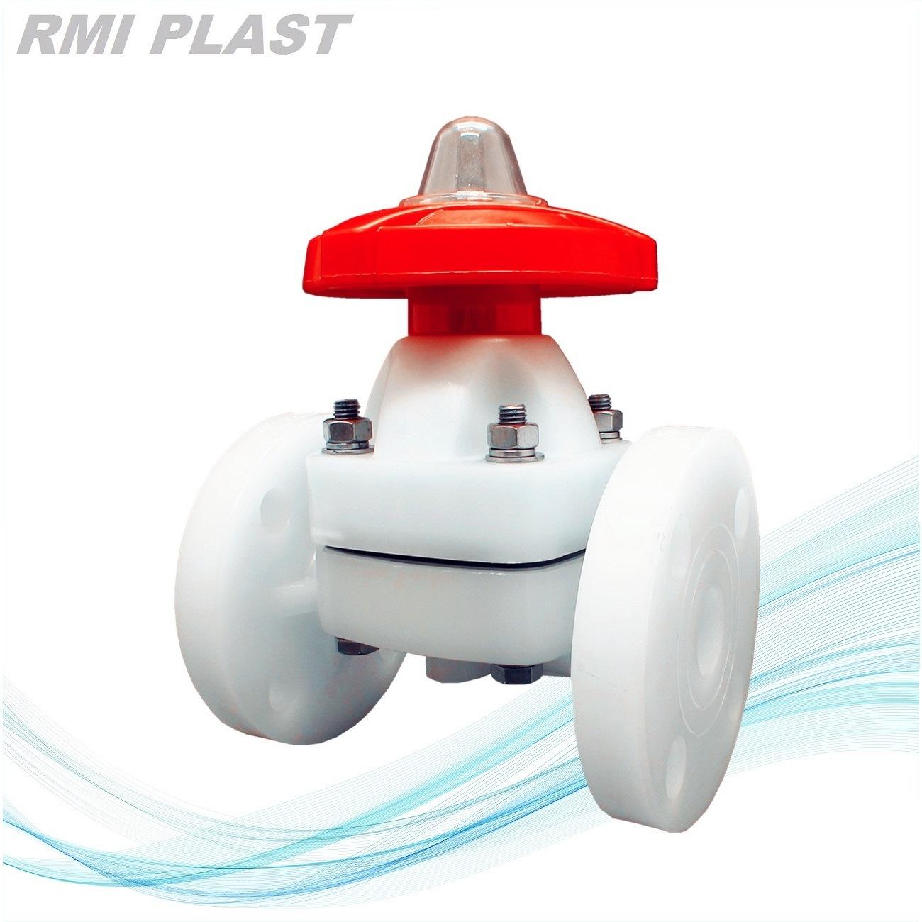 PVC CPVC PVDF PP Plastic Diaphragm Valve