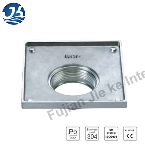 Decorative Concrete Stainless Steel Bathroom Square Floor Drain (D26-02)