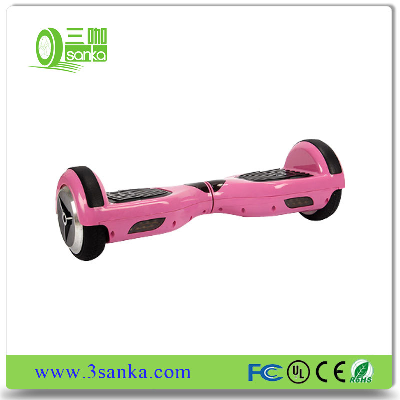 Pink Electrical Scooter Two Wheels Hoverboard off Road