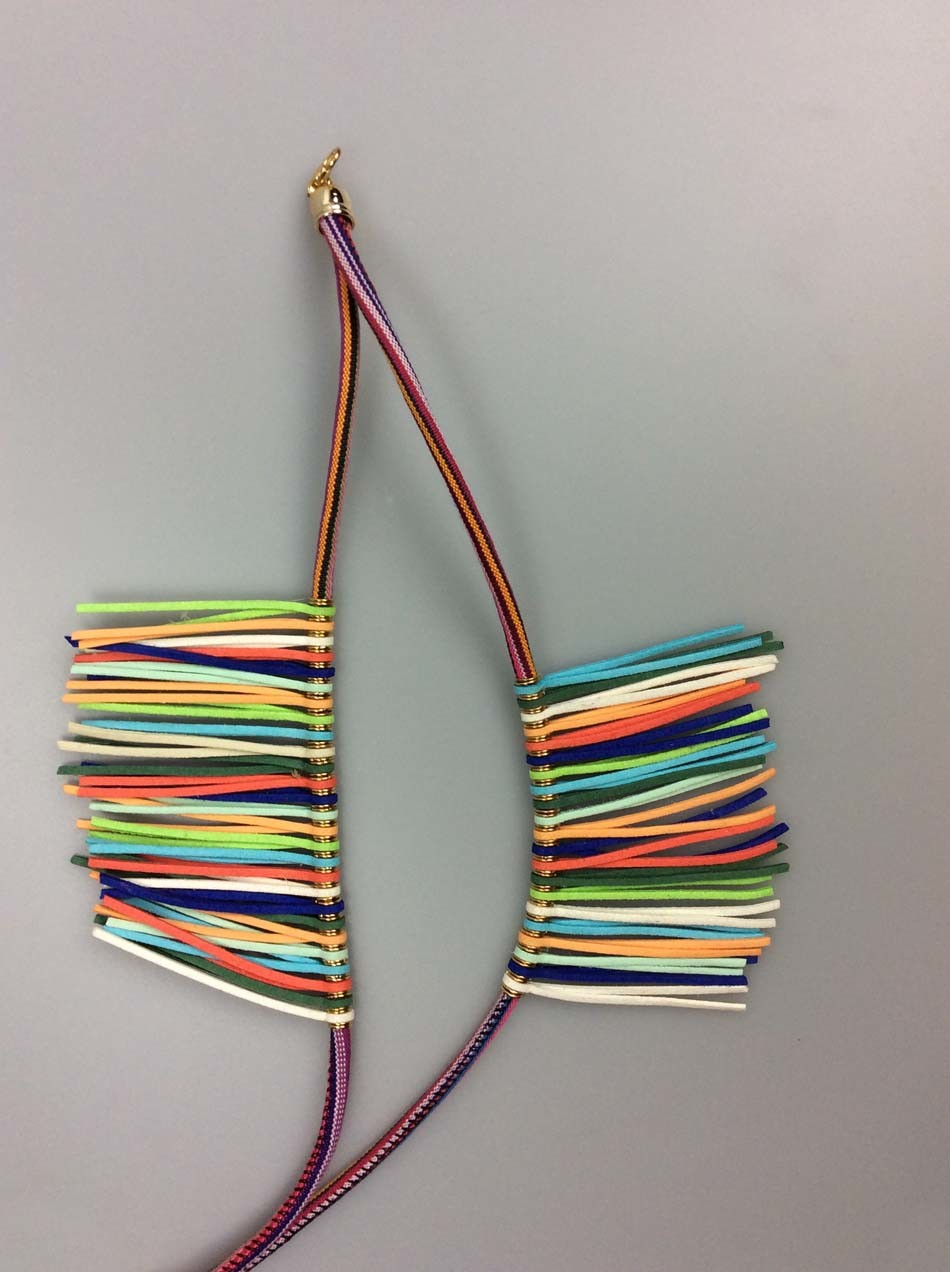 Women Fashion Accessory Polyester Cord Necklace for Ladies