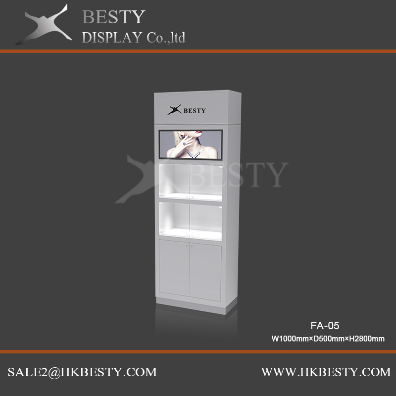 Customized Wall Cabinet for fashion jewelry Store