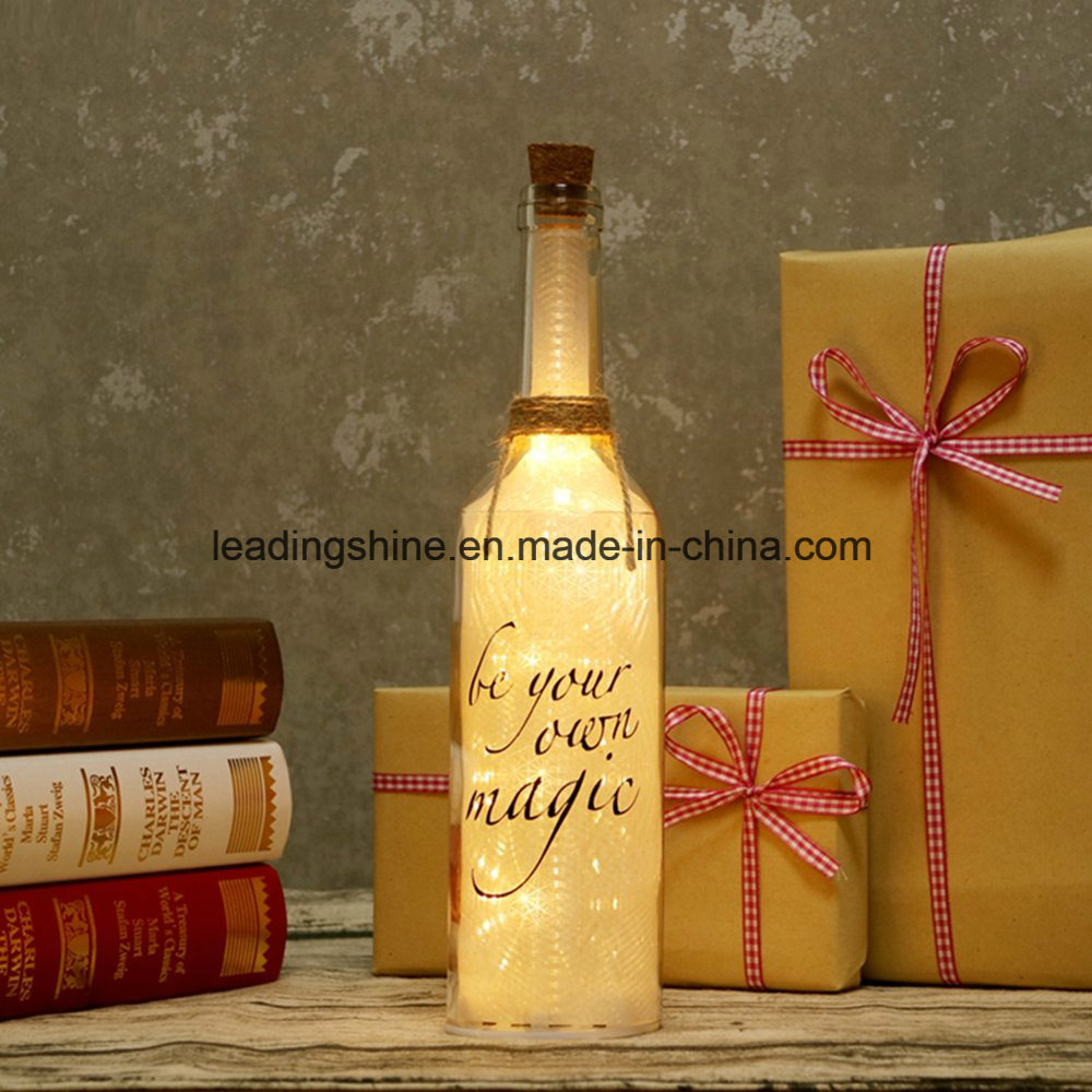 4 Function Xmas Mother′s Day Gift Set with Starlight Bottle Light up Rose and Chocolates