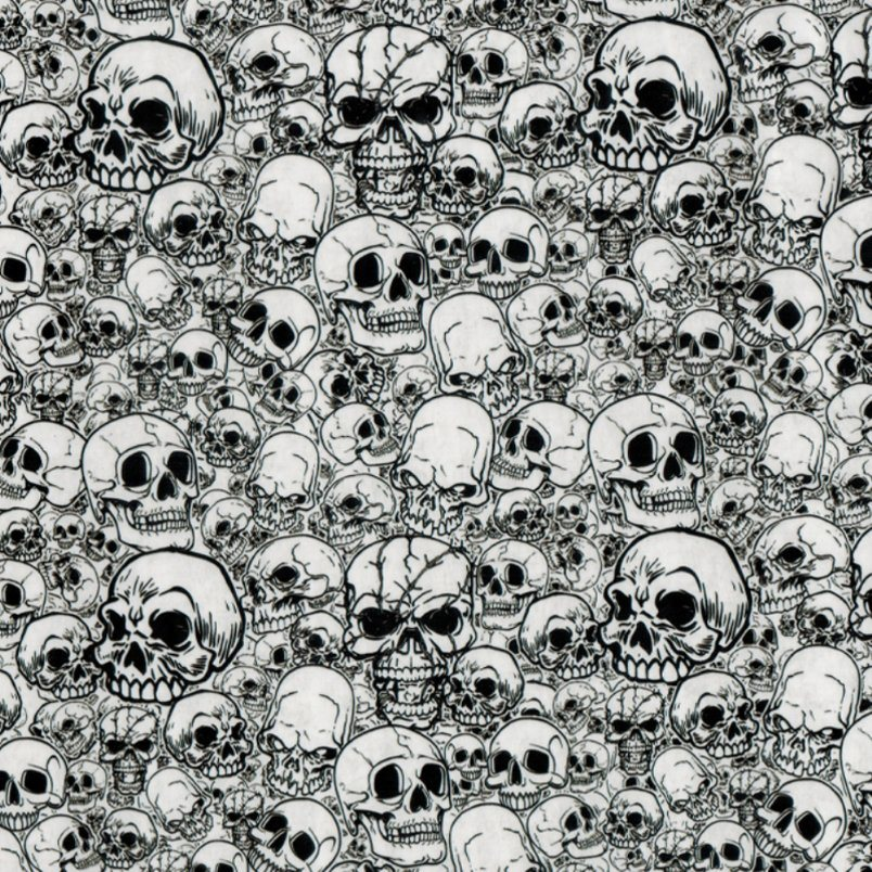 Kingtop 0.5m Width Skulls and Flame Design Water Transfer Printing Hydrographic Film Wdf9062