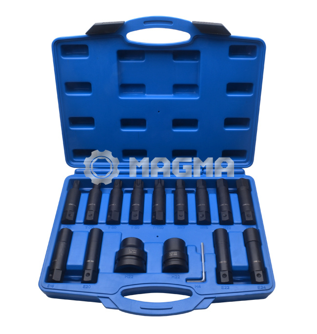"16PCS Impact Insert Bit Socket Set-3/4"" & 1""-Garage Tools (MG50472)"