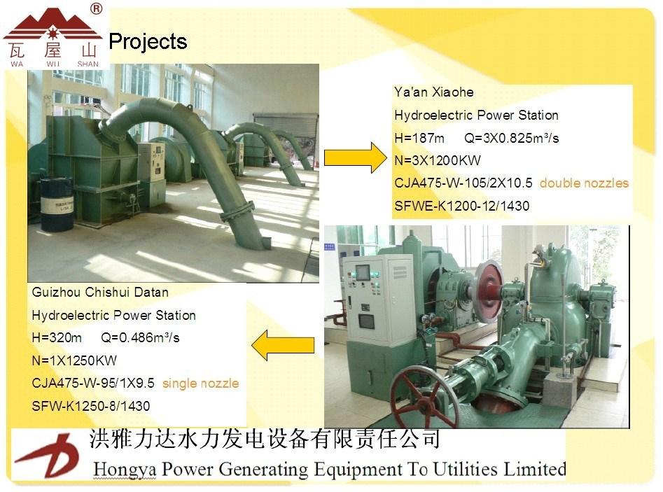 High Quality Pelton Turbine Genaror for Power Plant
