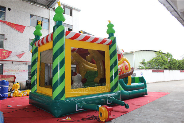 Christmas Inflatable Jumping Castle Combo for Toddlers Chb1127