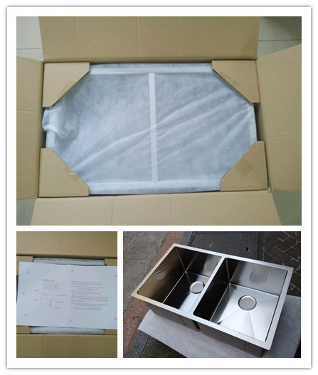 Handmade Sink Double Sink 50/50, Customized Stainless Steel Sink Hmrd3219