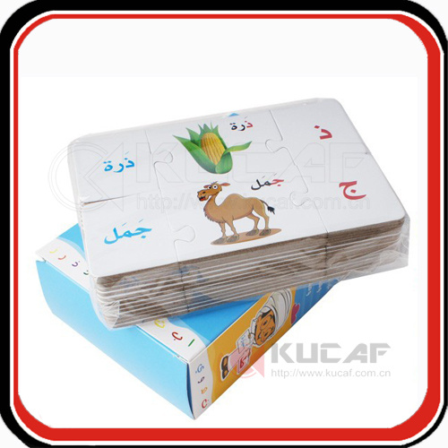 Custom Kids Paper Cardboard Puzzle Game Playing Cards