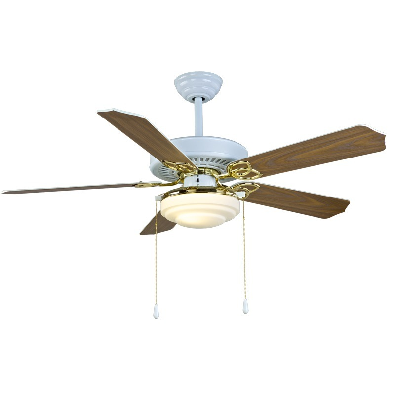 "52"" Ceiling Fan with Lighting White and Gold"