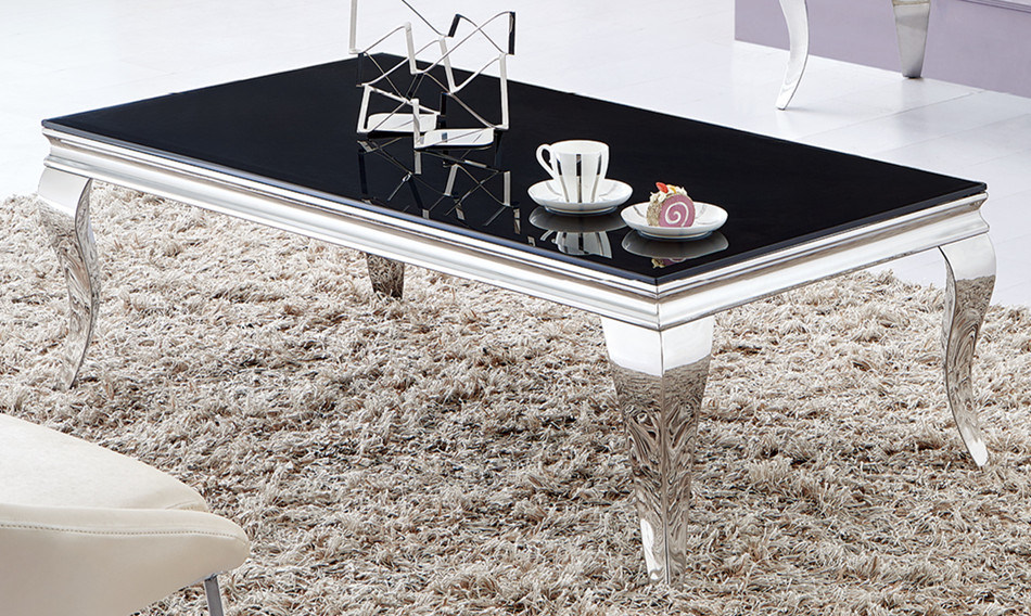 Modern Home Furniture Glass Dining End Coffee Cocktail Table