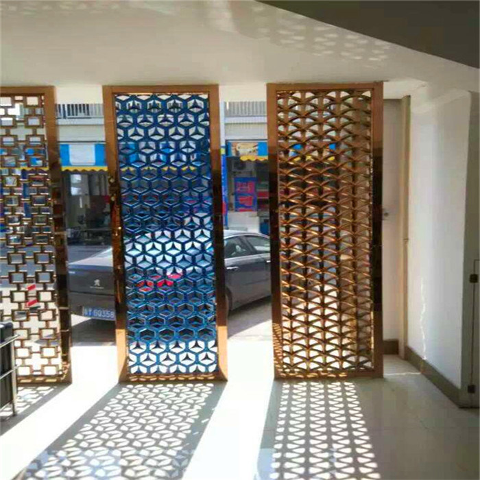 Color Laser Cut Stainless Steel Sheet for Interior Screen Decorative Wall Panel