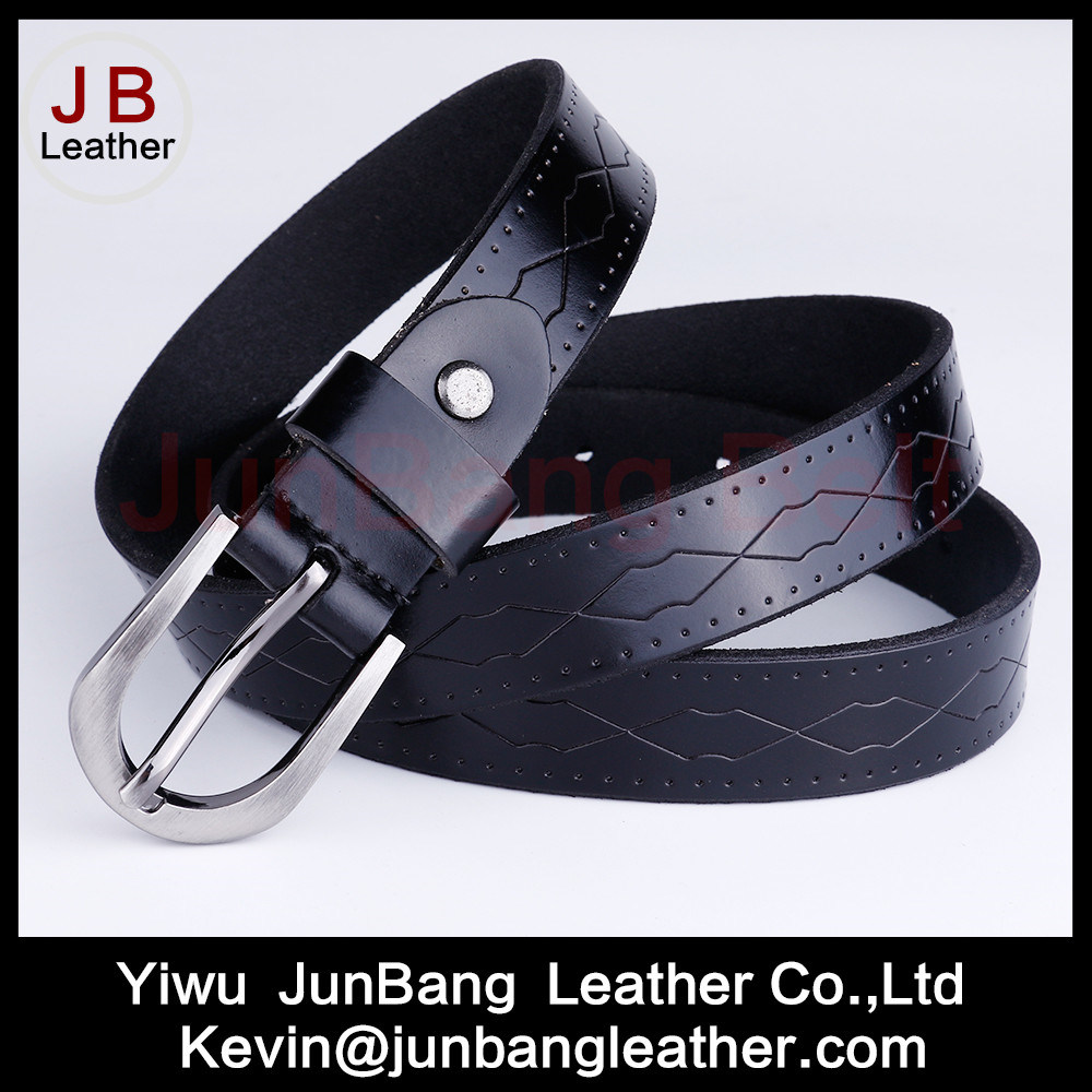 Newest Fashion Women′s Genuine Leather Embossed Belts