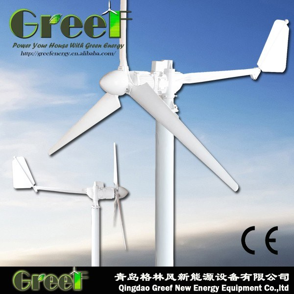 5kw Horizontal Axis Wind Turbine off-Grid and on-Grid System