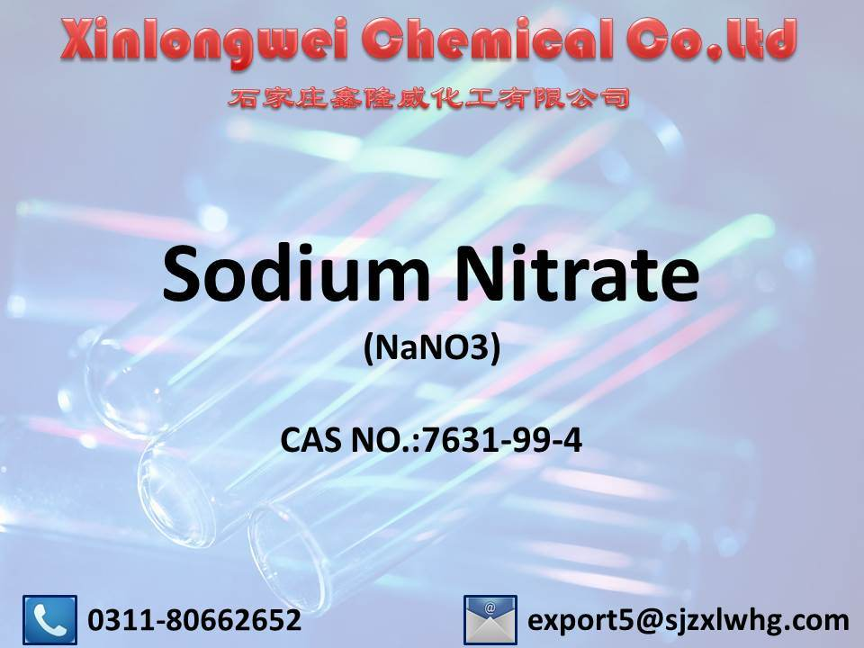 Offer High Quality Sodium Nitrate 99%Min Industry / Nano3