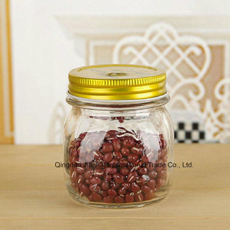 Vintage-Style Glass Kitchen Food Storage Jam Canning Mason Jars