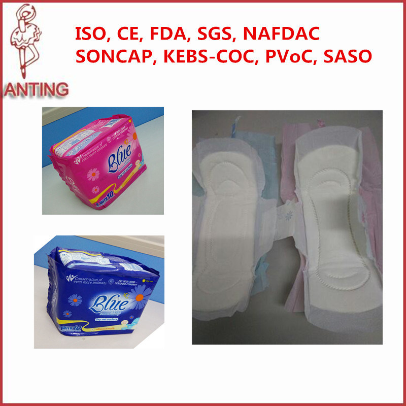 Wholesale Female Sanitary Pads Blue Sanitry Napkin