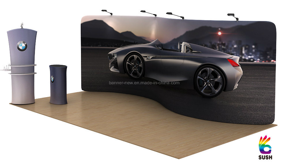 Tension Fabric Portable Exhibition Stand, Display Stand, Banner Stand (KM-BSS)