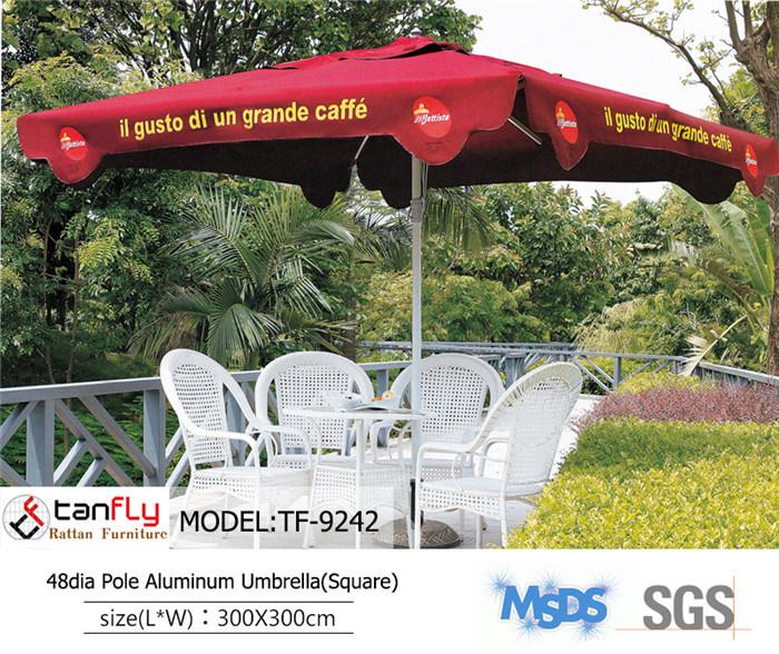 48dia Pole Patio Strong Aluminum MID Pole Umbrella