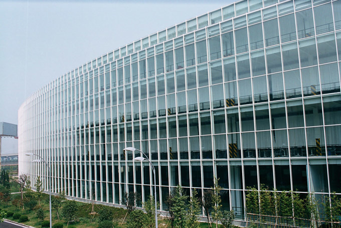 Green Curtain Wall Tempered Low-E Glass