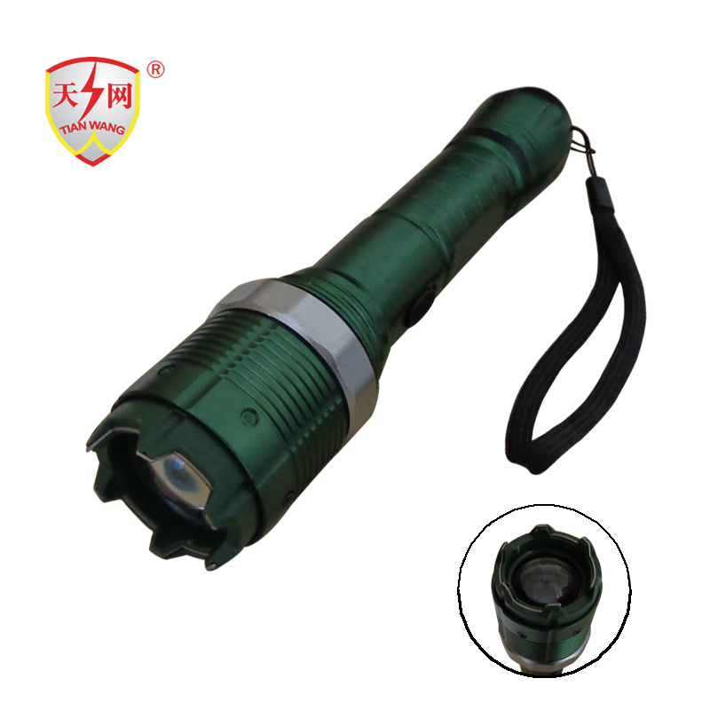 Military Zoomable Aluminum Electric Police Stun Guns with Flashlight