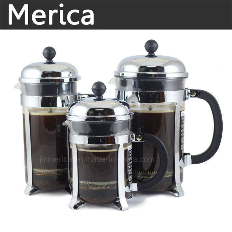 Stainless Glass Cafetiere French Press Coffee Plunger Pot