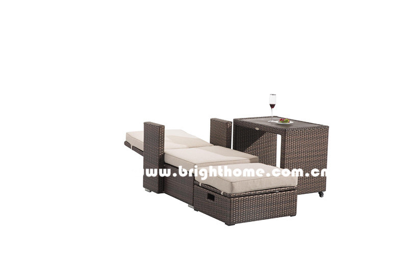 Combined PE Rattan Wicker Outdoor Lounge Bp-8029