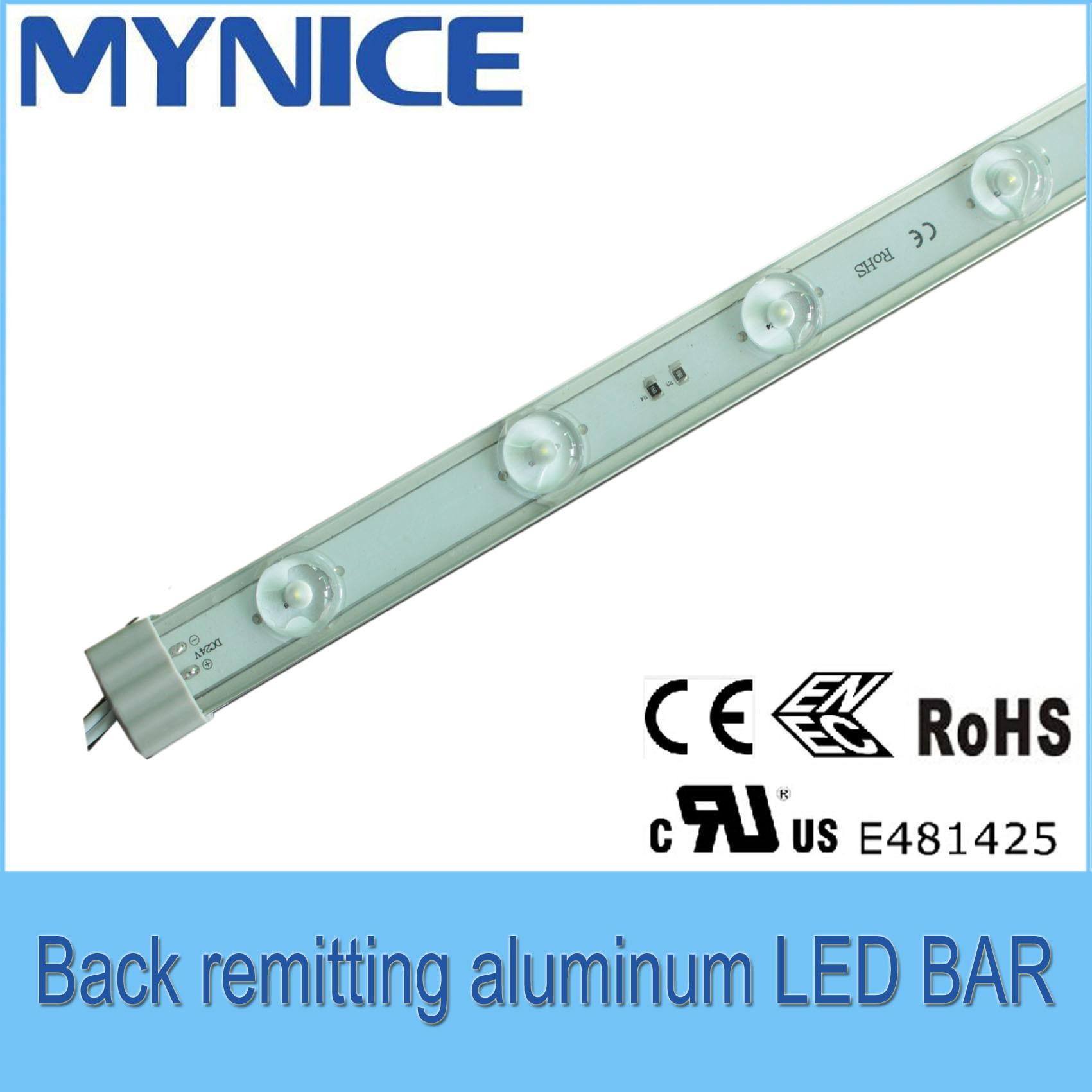 DC24V Back Remitting Aluminum LED Rigid Bar for Advertising Box