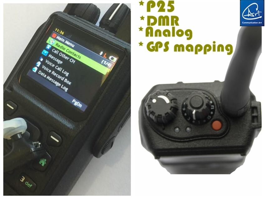 VHF/UHF P25 Portable Radio Support P25 Multi-System