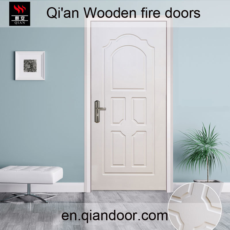 Interior European Style Wooden Fire White Door