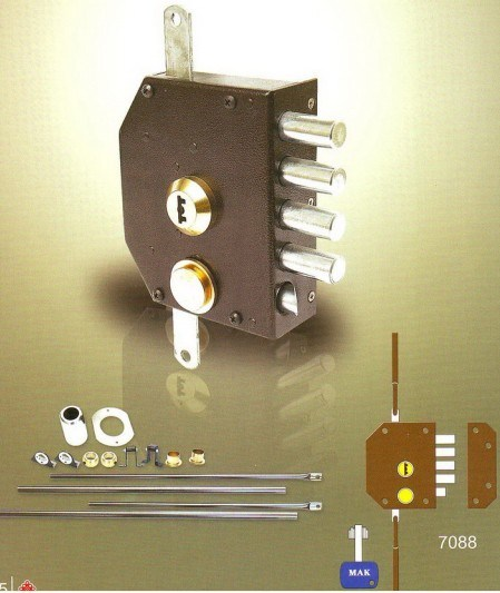 High Quality Brass Electronic Rim Door Lock