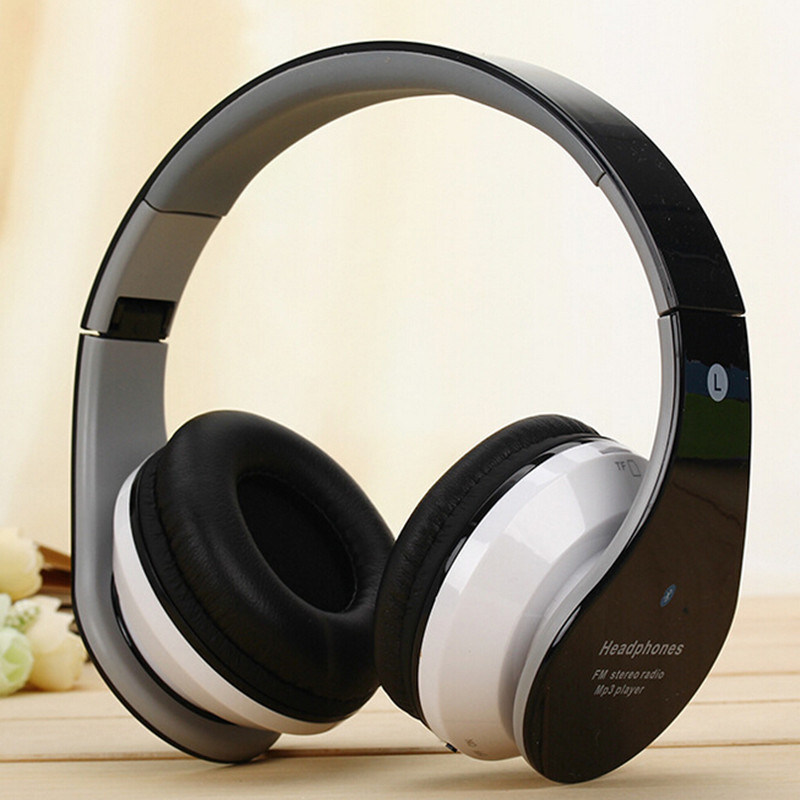 Foldable Supper Mic Deep Bass Wireless Bluetooth Headphone with TF Card for Cellphone and Computer