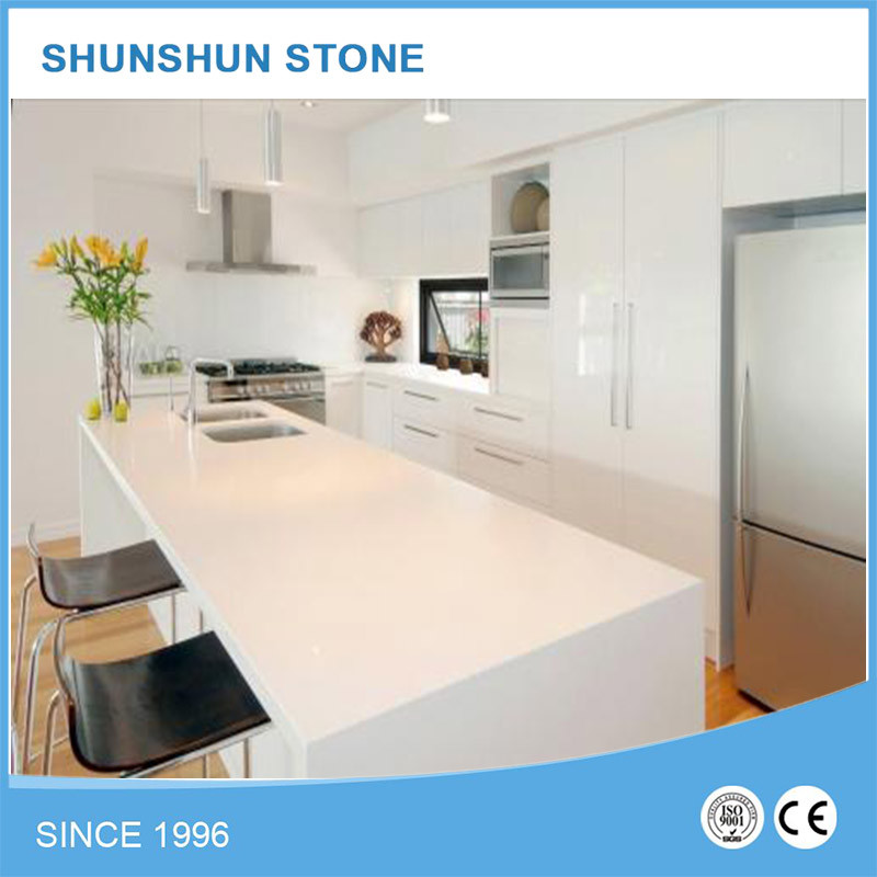 Artificial White Popular Quartz Stone for Kitchen Tops