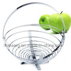 China Hardware Accessories Kitchenware Fruit Wire Basket Rack