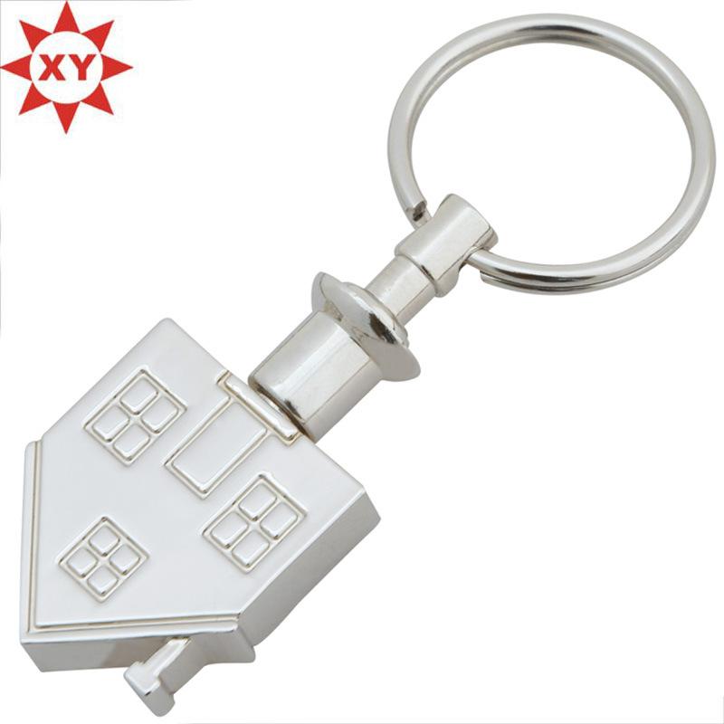 Wholesales Custom House Shape Metal Keychain