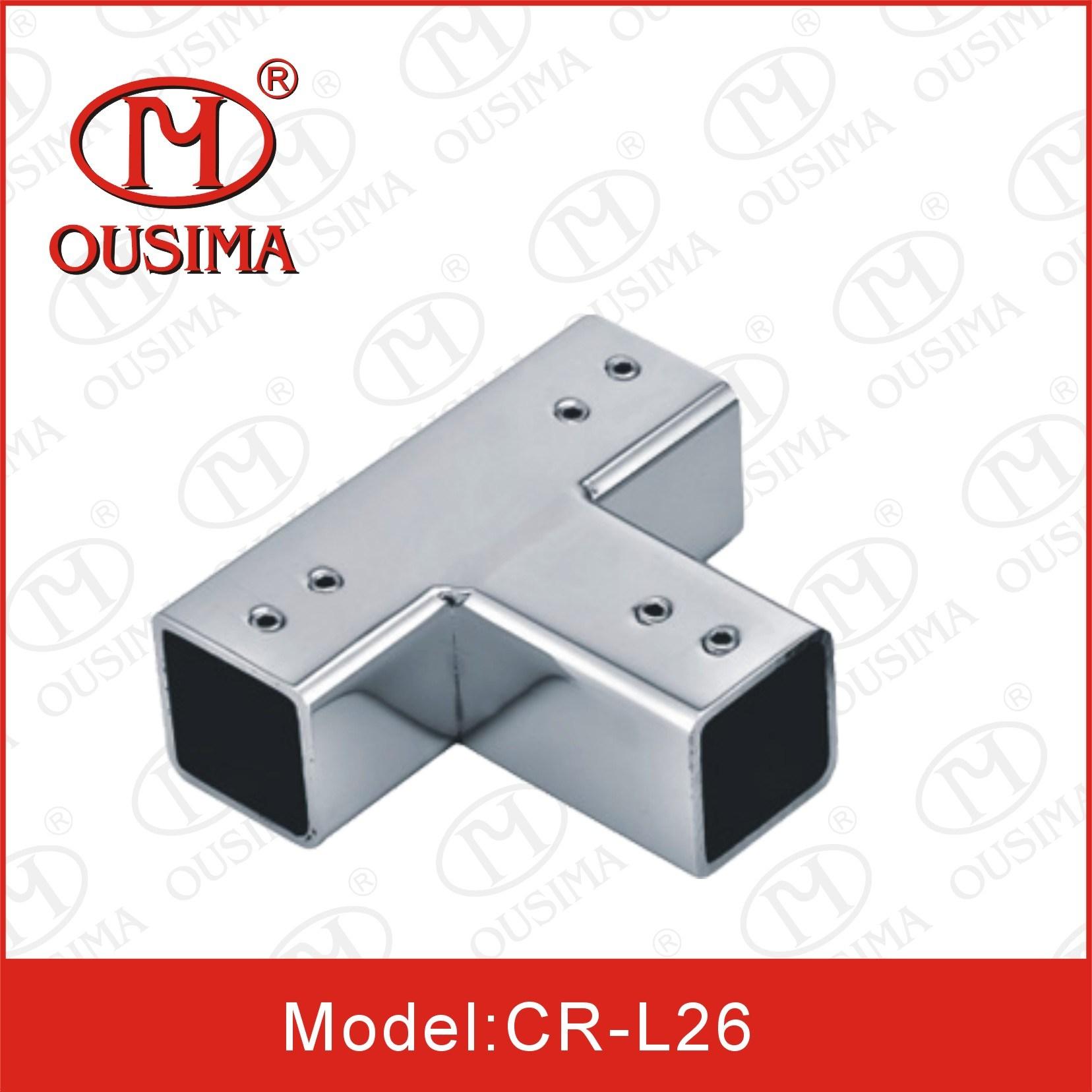 3 Ways Stainless Steel Glass Door Acessory Connector