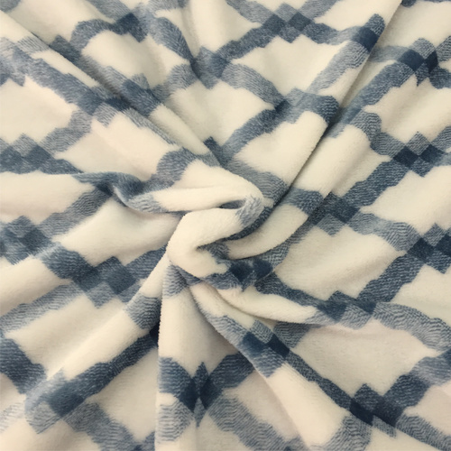 100% Polyester Cation 1 Jacquard Flannel Fleece