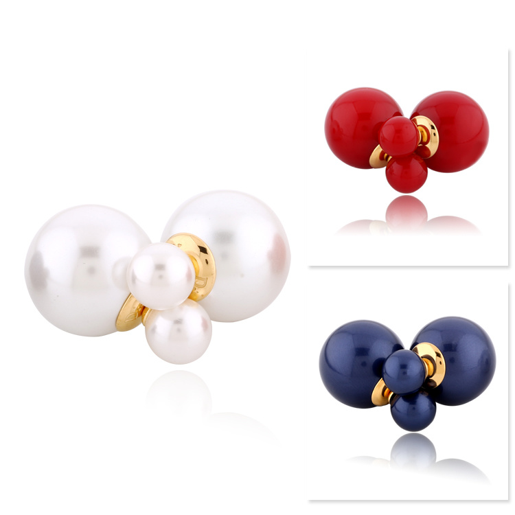 Fashion Stainless Steel Jewelry Pearl Stud Earrings (hdx1105)