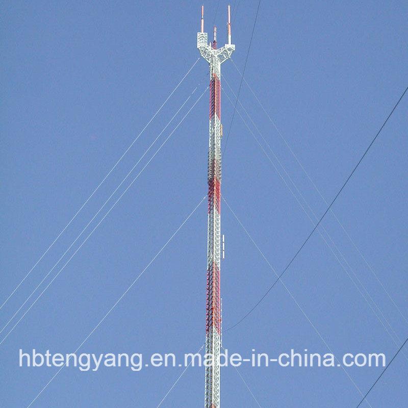 Steel Lattice Telecom Guyed Tower
