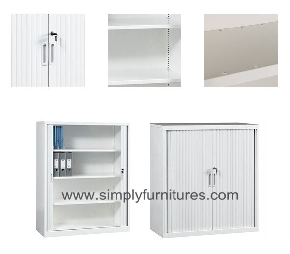 Tambour Door File Cabinet / Metal Office Furniture (T3-PK)