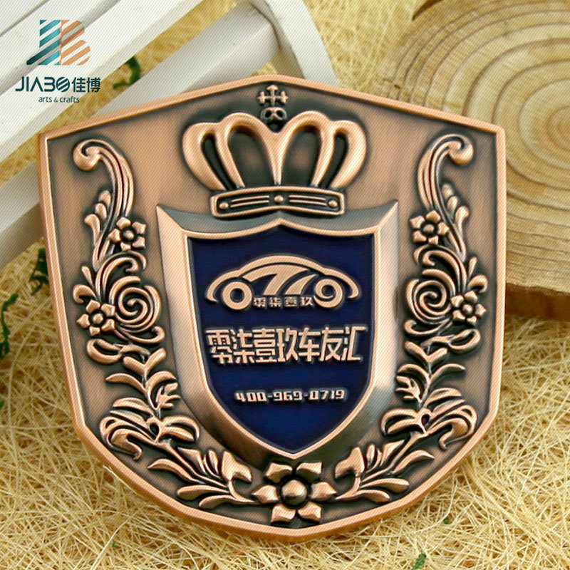 Zinc Alloy Die Cut Bronze 3D Custom Metal Challenge Coin Medallion with Enamel